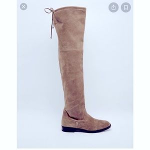 Aldo over-the-knee Barra flat Taupe Suede Boots